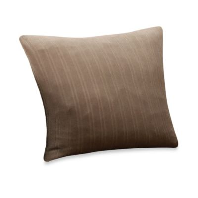 Sure Fit® Stretch Pinstripe 18-Inch Square Throw Pillow in Taupe