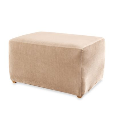 Sure Fit® Stretch Sterling Ottoman Slipcover