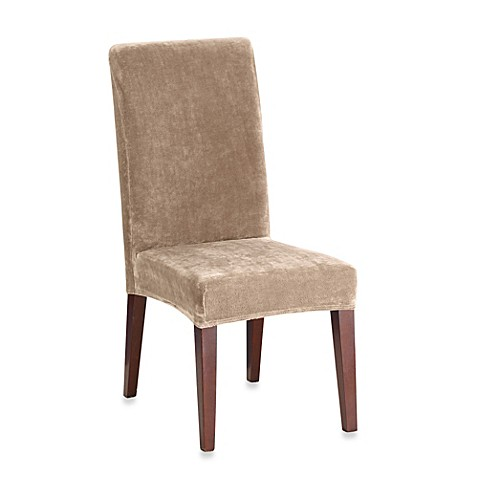 buy sure fit stretch plush short dining room chair cover