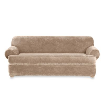 Buy Sure Fit Stretch Pique 2 Piece T Cushion Sofa