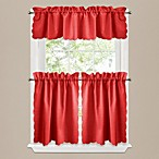 Victoria Window Curtain Tier Pairs in Red