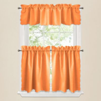 Victoria Window Curtain Valance in Orange