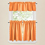 Victoria Window Curtain Tier Pairs and Valances in Orange