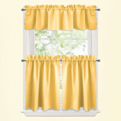 buy yellow kitchen curtains from bed bath beyond
