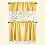 Victoria Window Curtain Tier Pairs in Yellow