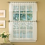 Daisy Window Curtain Tier Pairs in White