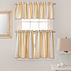 Lauren Stripe Window Curtain Tier Pairs and Valances in Yellow