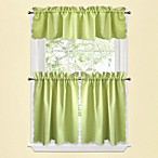 Victoria Window Curtain Tier Pairs in Green