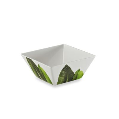 Poolside Palms 6.1-Inch Melamine Square Salad Bowl