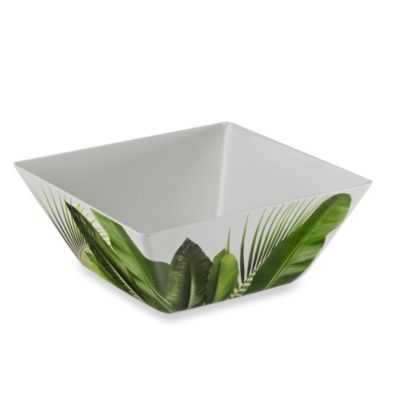Poolside Palms 10.2-Inch Melamine Square Serving Bowl