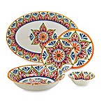 Mirasol Hand Painted Cream Round Dinnerware Collection
