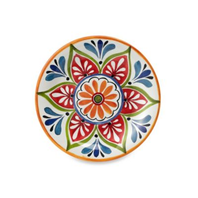 Mirasol Hand Painted Cream Round Salad Plate