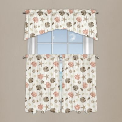 Seashore Coral Window Curtain Valance