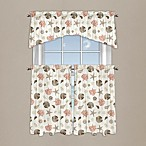 Seashore Coral Window Curtain Tier Pairs