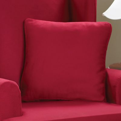 Sure Fit® Cotton Duck 18-Inch Square Throw Pillow in Claret