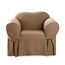 Sure Fit® Cotton Duck 1-Piece Chair Slipcover
