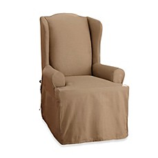 Sure Fit® Cotton Duck Wing Chair Cover