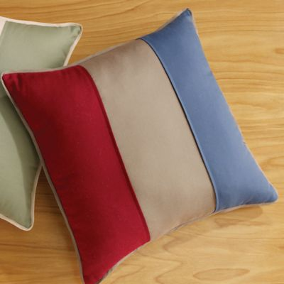 Sure Fit® Cotton Duck 18-Inch Square Throw Pillow in Claret/Linen