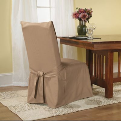 Sure Fit® Duck Supreme Cotton Dining Room Chair Slipcover in Claret
