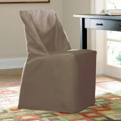 Sure Fit® Duck Supreme Cotton Folding Chair Slipcover in Linen