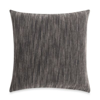 Sure Fit® Space-Dyed Stretch Pique 18-Inch Square Throw Pillow in Chocolate