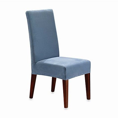 Buy Sure Fit Stretch Pique Short Dining Room Chair Slipcover From Bed Bath