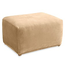Sure Fit® Stretch Pique Ottoman Slipcover