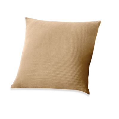 "Stretch Pique Taupe 18"" Square Throw Pillow"
