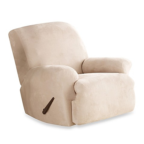 Sure Fit® Stretch Suede Recliner Slipcover