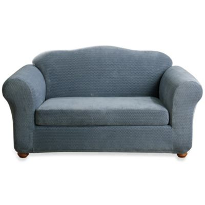 Sure Fit® Stretch Royal Diamond 2-Piece Sofa Slipcover