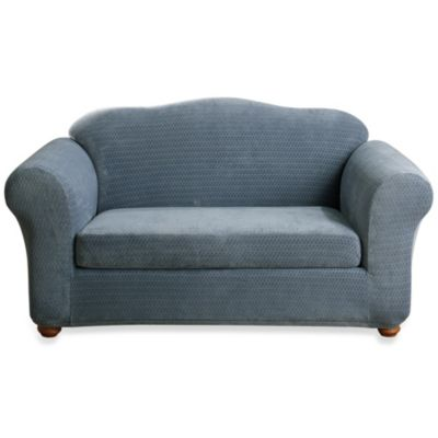 Sure Fit® Stretch Royal Diamond 2-Piece Loveseat Slipcover
