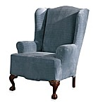 Sure Fit® Stretch Royal Diamond Wing Chair Slipcover