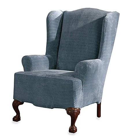 Buy Sure Fit 174 Stretch Royal Diamond Wing Chair Slipcover