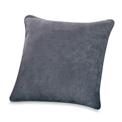 Smoke Blue Throw Pillow : Sure Fit Soft Suede 18-Inch Square Throw Pillow - Bed Bath & Beyond