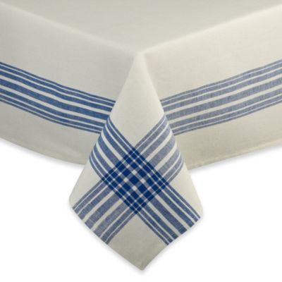 Benton Woven Cotton 52-Inch x 52-Inch Tablecloth in Cobalt