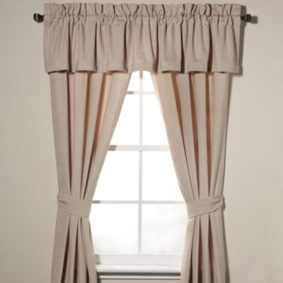 Nautica® Eden Glen 86-Inch Window Valance in Khaki