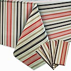 Colordrift Beach Stripe Tablecloth and Napkin Set