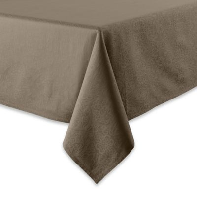 Waterford® Linens Sarah 52-Inch x 70-Inch Oblong Tablecloth in Platinum