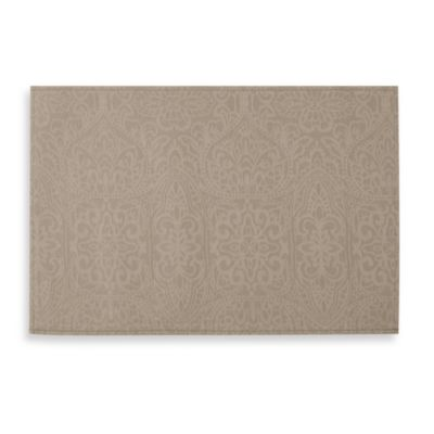 Waterford® Linens Sarah 13-Inch x 19-Inch Placemat in Platinum