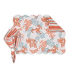 Catalina Coral Reversible Placemat and Napkin