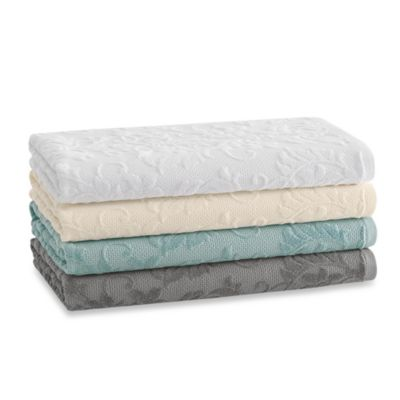 Kassatex Parisian Wash Towel in Dove Grey