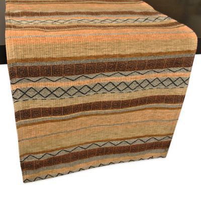 Chenille Tapestry Table Runner in Earth