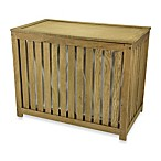 Household Essentials® Oak Double Hamper with Barnwood Finish