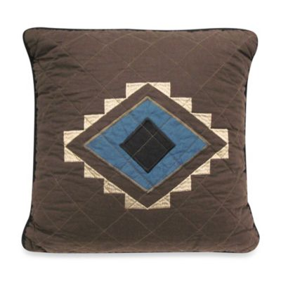 Donna Sharp Desert Star Quilt 15-Inch Square Decorative Pillow