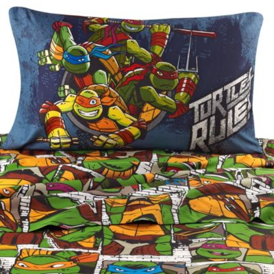 Teenage Mutant Ninja Turtles Dark Ninja Printed Twin Sheet Set