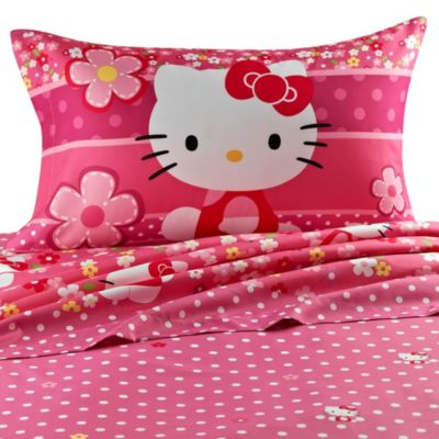 Hello Kitty Twin Sheet Set