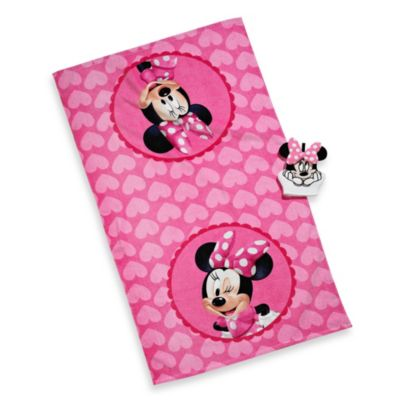 Disney® Minnie Bath Towel and Wash Mitt Set