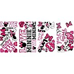 RoomMates® Minnie Loves Pink Peel and Stick Wall Decals