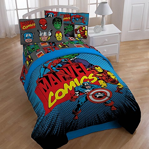 buy disney marvel heroes super heroes printed twin full comforte