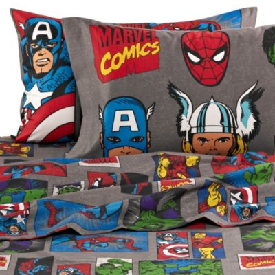 "Disney® Marvel Heroes ""Super Heroes"" Printed Twin Sheet Set"